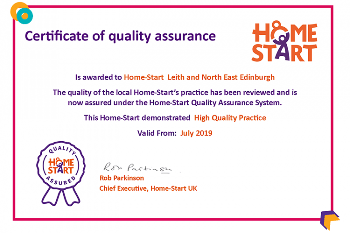 Certificate Leith NEE August 2019